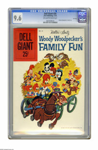 Dell Giants #24 Woody Woodpecker's Family Fun (Dell, 1959) CGC NM+ 9.6 Off-white to white pages. Walter Lantz art. Overs...