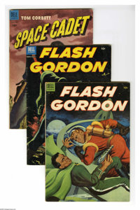 Dell Science Fiction Group (Dell, 1953-54) Condition: Average VG. Six-issue group lot includes Four Color #512 (Flash Go...