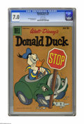Silver Age (1956-1969):Cartoon Character, Donald Duck #64 (Dell, 1959) CGC FN/VF 7.0 White pages. Tony Strobl cover. Strobl and Jack bradbury art. Overstreet 2005 FN ...