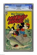 "Golden Age (1938-1955):Cartoon Character, Four Color #194 Mickey Mouse in ""The World Under The Sea"" File Copy(Dell, 1948) CGC FN 6.0 Off-white pages. Mickey Mouse in..."