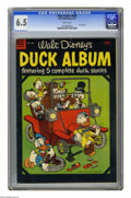 Golden Age (1938-1955):Cartoon Character, Four Color #560 Duck Album (Dell, 1954) CGC FN+ 6.5 White pages.Overstreet 2005 FN 6.0 value = $18; VF 8.0 value = $43. CGC...
