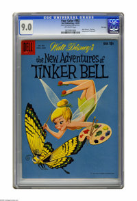 """Four Color #982 File Copy (Dell, 1959) CGC VF/NM 9.0 Off-white pages. Walt Disney's """"The New Adventures of Tinkerbe..."""