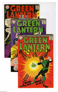 Green Lantern Group (DC, 1966-69) Condition: Average VF-. Nine-issue group lot includes #49, 54, 57, 61 (Golden Age Gree...