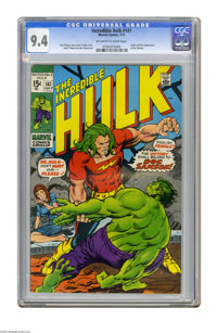 The Incredible Hulk #141 (Marvel, 1971) CGC NM 9.4 Off-white to white pages. Origin and first appearance of Doc Samson...