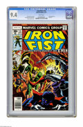 Bronze Age (1970-1979):Superhero, Iron Fist #15 (Marvel, 1977) CGC NM 9.4 White pages. X-Men appearance. Dave Cockrum cover. John Byrne and Dan Green art. Las...