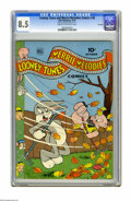 "Golden Age (1938-1955):Cartoon Character, Looney Tunes and Merrie Melodies Comics #36 File Copy (Dell, 1944) CGC VF+ 8.5 Cream to off-white pages. CGC notes: ""From th..."