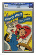 "Golden Age (1938-1955):Cartoon Character, Looney Tunes and Merrie Melodies Comics #53 File Copy (Dell, 1946) CGC NM 9.4 Off-white pages. CGC notes: ""From the Random H..."