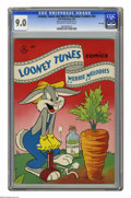 """Golden Age (1938-1955):Cartoon Character, Looney Tunes and Merrie Melodies Comics #54 File Copy (Dell) CGC VF/NM 9.0 Off-white to white pages. CGC notes: """"From the Ra..."""