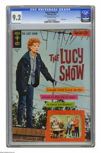 """The Lucy Show #1 File Copy (Gold Key, 1963) CGC NM- 9.2 Off-white pages. Photo cover. CGC notes: """"From the Random H..."""