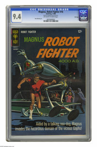 Magnus Robot Fighter #16 File Copy (Gold Key, 1966) CGC NM 9.4 Off-white to white pages. Russ Manning art. CGC notes: &q...