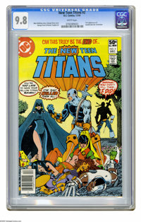 New Teen Titans #2 (DC, 1980) CGC NM/MT 9.8 White pages. First appearance of Deathstroke the Terminator. George Perez co...