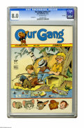 Golden Age (1938-1955):Humor, Our Gang #11 File Copy (Dell, 1942) CGC VF 8.0 Off-white pages. First Barney Bear and Benny Burro by Carl Barks.. Overstreet...