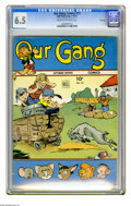 Golden Age (1938-1955):Humor, Our Gang #13 File Copy (Dell, 1944) CGC FN+ 6.5 Cream to Off-white pages. Overstreet 2005 FN 6.0 value = $69; VF 8.0 value =...
