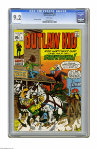 Outlaw Kid (second series) #1 (Marvel, 1970) CGC NM- 9.2 White pages. John Severin cover. Overstreet 2005 NM- 9.2 value...