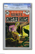 "Bronze Age (1970-1979):Horror, Secrets of Sinister House #14 (DC, 1973) CGC NM+ 9.6 White pages.Adaptation of ""The Man and the Snake"" by Ambrose Bierce. L..."