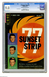 77 Sunset Strip #2 File Copy (Gold Key, 1963) CGC VF/NM 9.0 Off-white to white pages. Russ Manning art. Overstreet 2005...