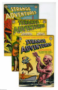 Golden Age (1938-1955):Science Fiction, Strange Adventures Group (DC, 1952-53) Condition: Average VG.Three-issue group lot includes #21, 27, and 30 (robot cover). ...(3 Comic Books)