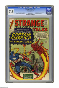 Strange Tales #114 (Marvel, 1963) CGC VF- 7.5 Off-white pages. The Human Torch meets an impostor posing as Captain Ameri...