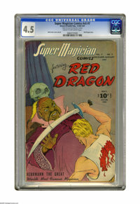Super Magician Comics v5#7 (Street & Smith, 1946) CGC VG+ 4.5 Cream to off-white pages. Red Dragon cover and int...