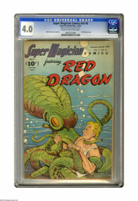 Super Magician Comics v5#8 (Street & Smith, 1947) CGC VG 4.0 Cream to off-white pages. Red Dragon cover and inte...