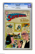 Golden Age (1938-1955):Superhero, Superman #97 (DC, 1955) CGC FN/VF 7.0 Cream to off-white pages. Al Plastino, Curt Swan, and Wayne Boring art. Overstreet 200...