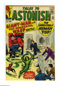 Silver Age (1956-1969):Superhero, Tales to Astonish #50 (Marvel, 1963) Condition: VF. Jack Kirby cover. Kirby and Larry Lieber art. Tan edges. Overstreet 2005...