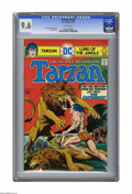 "Bronze Age (1970-1979):Miscellaneous, Tarzan #240 (DC, 1975) CGC NM+ 9.6 White pages. Joe Kubert coverand story. Adapts Burroughs' ""Tarzan and the Castaways."" Fr..."