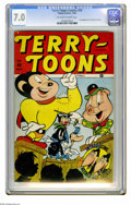 Golden Age (1938-1955):Funny Animal, Terry-Toons Comics #50 (Timely, 1946) CGC FN/VF 7.0 Off-white towhite pages. First appearance of Heckle and Jeckle. Overstr...