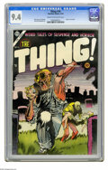 Golden Age (1938-1955):Horror, The Thing! #16 (Charlton, 1954) CGC NM 9.4 Cream to off-whitepages. Injury to eye panel. Dick Ayers, Joe Shuster, and Sam M...