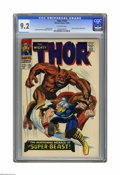 Silver Age (1956-1969):Superhero, Thor #135 (Marvel, 1966) CGC NM- 9.2 Off-white pages. Jack Kirby cover and art. Overstreet 2005 NM- 9.2 value = $90. CGC cen...