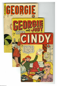 "Timely ""Good Girl"" Comics Group (Timely, 1948-52) Condition: Average GD. Fourteen-issue group lot includes Cin..."
