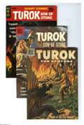 Silver Age (1956-1969):Adventure, Turok Group (Dell, 1957-61) Condition: Average VF+. This six-issue group lot of early Turok books includes #6, 9, 11, and 12... (6 Comic Books)
