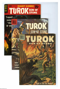 Turok Group (Dell, 1957-61) Condition: Average VF+. This six-issue group lot of early Turok books includes #6, 9, 11, an...