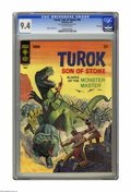 "Silver Age (1956-1969):Superhero, Turok #56 File Copy (Gold Key, 1967) CGC NM 9.4 Off-white pages. Alberto Giolitti art. CGC notes: ""From the Random House Arc..."