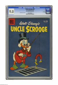 Uncle Scrooge #26 File Copy (Dell, 1959) CGC VF/NM 9.0 Off-white to white pages. Carl Barks cover and art. CGC notes: &q...