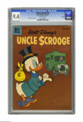"Silver Age (1956-1969):Cartoon Character, Uncle Scrooge #32 File Copy (Dell, 1960) CGC NM 9.4 Off-white pages. Carl Barks cover and art. CGC notes: ""From the Random H..."