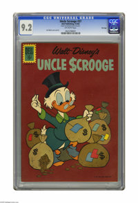 "Uncle Scrooge #37 File Copy (Dell, 1962) CGC NM- 9.2 Off-white pages. Carl Barks cover and art. CGC notes: ""From th..."