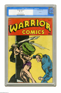 Warrior Comics #1 (HC Blackerby, 1945) CGC VF- 7.5 Cream to off-white pages. The only issue of the title. Gerber's Photo...