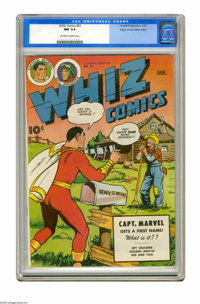 Whiz Comics #61 Mile High pedigree (Fawcett, 1945) CGC NM 9.4 Off-white to white pages. C. C. Beck cover and art. Overst...