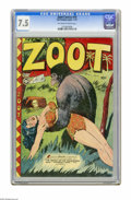 Golden Age (1938-1955):Adventure, Zoot Comics #10 (Fox Features Syndicate, 1947) CGC VF- 7.5 Off-white to white pages. Jack Kamen cover. Matt Baker art. Overs...