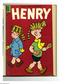 Henry #37-48 Bound Volume (Dell, 1954-56). These are Western Publishing file copies that have been trimmed and bound int...