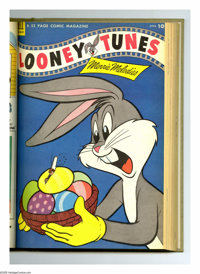 Looney Tunes and Merrie Melodies Comics #145-156 Bound Volume (Dell, 1953-54). These are Western Publishing file copies...