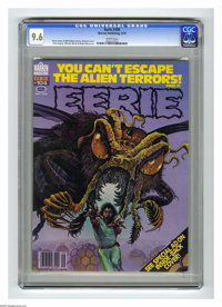Eerie #104 (Warren, 1979) CGC NM+ 9.6 White pages. Kirk Reinert cover. Paul Gulacy, Alfredo Alcala, Pablo Marcos, and Ru...