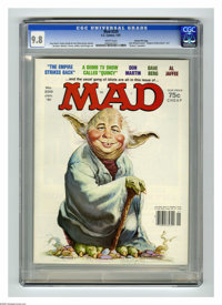 """Mad #220 Gaines File Copy (EC, 1981) CGC NM/MT 9.8 White pages. """"The Empire Strikes Back"""" and """"Quincy&quo..."""