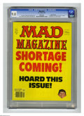 """Magazines:Mad, Mad #221 Gaines File Copy (EC, 1981) CGC VF/NM 9.0 White pages.""""The Shining"""" and """"Trapper John M.D."""" parodies. Mort Drucker..."""
