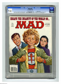 """Mad #232 Gaines File Copy (EC, 1982) CGC NM+ 9.6 Off-white to white pages. """"Greatest American Hero"""" parody. Ja..."""