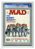 """Magazines:Mad, Mad #247 Gaines File Copy (EC, 1984) CGC NM- 9.2 Off-white to whitepages. """"The Right Stuff"""" parody. Mort Drucker, Don Marti..."""