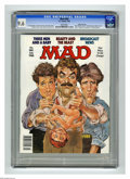 "Magazines:Mad, Mad #280 Gaines File Copy (EC, 1988) CGC NM+ 9.6 White pages.""Three Men and a Baby"" and ""Beauty and the Beast"" parodies. Mo..."