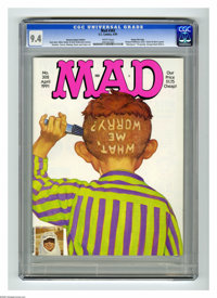 Mad #302 Hussein Asylum Edition -- Gaines File Copy (EC, 1991) CGC NM 9.4 White pages. Special edition only available to...