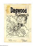 Original Comic Art:Covers, Hy Eisman (attributed) - Dagwood Cover Original Art (Harvey, 1955).Hy Eisman presents this volatile cover image of Dagwood ...